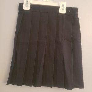 Navy blue uniform skirt